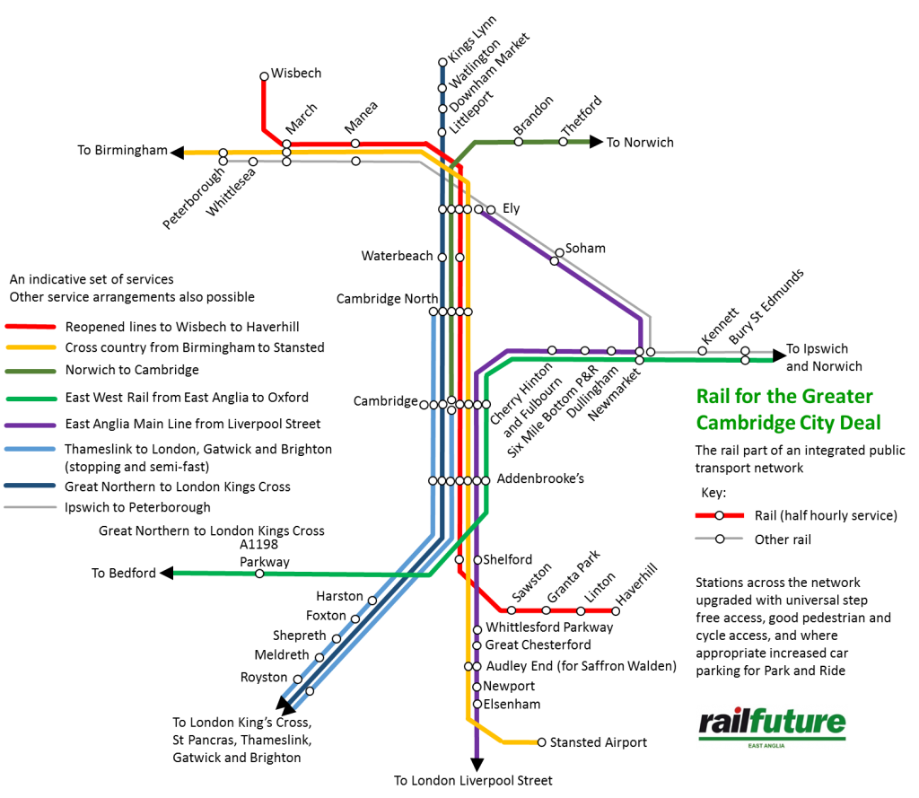 Proposed rail network