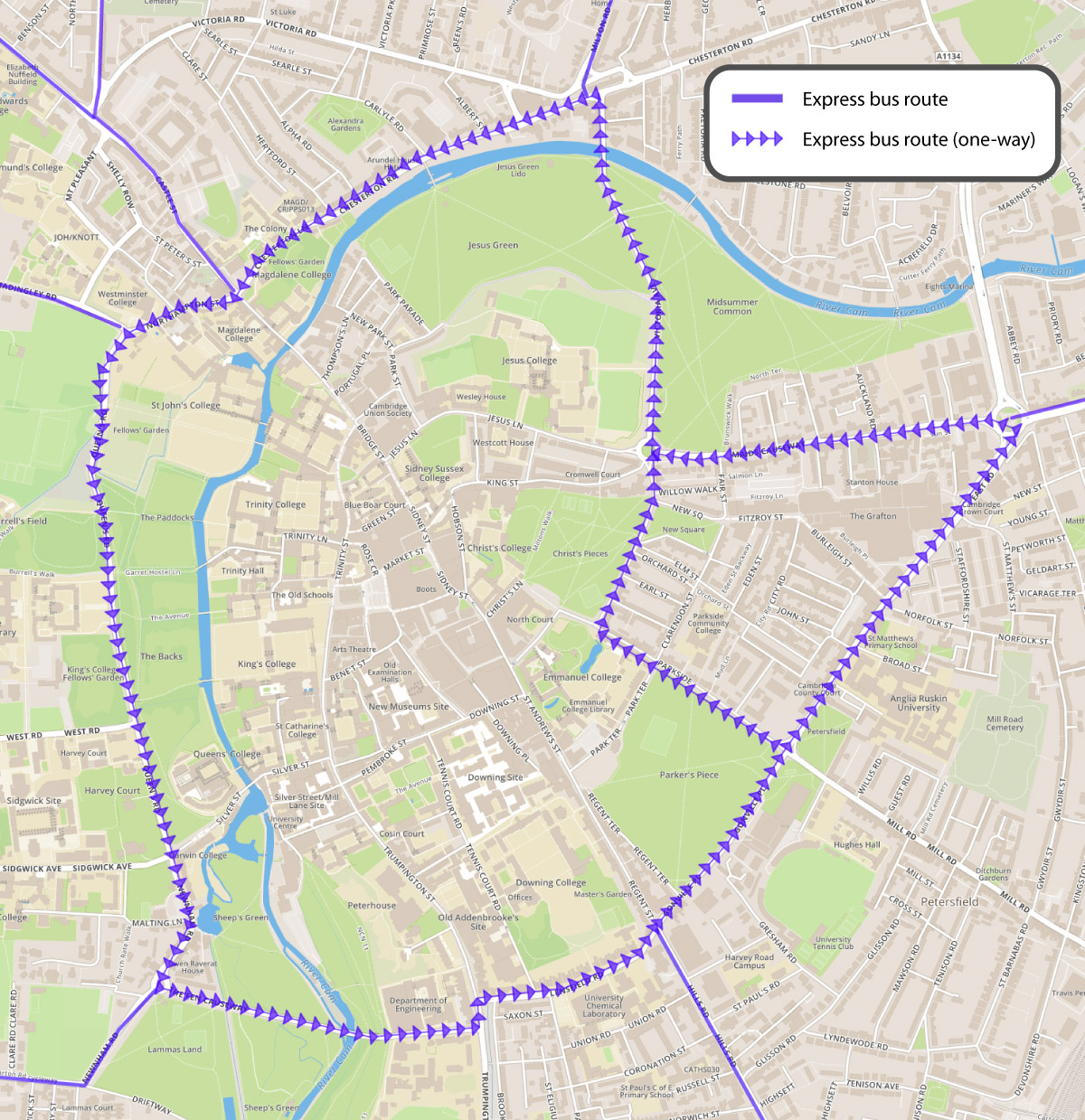 Making bus services in and around Cambridge more attractive