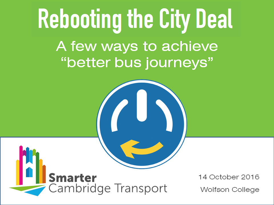 Rebooting the City Deal
