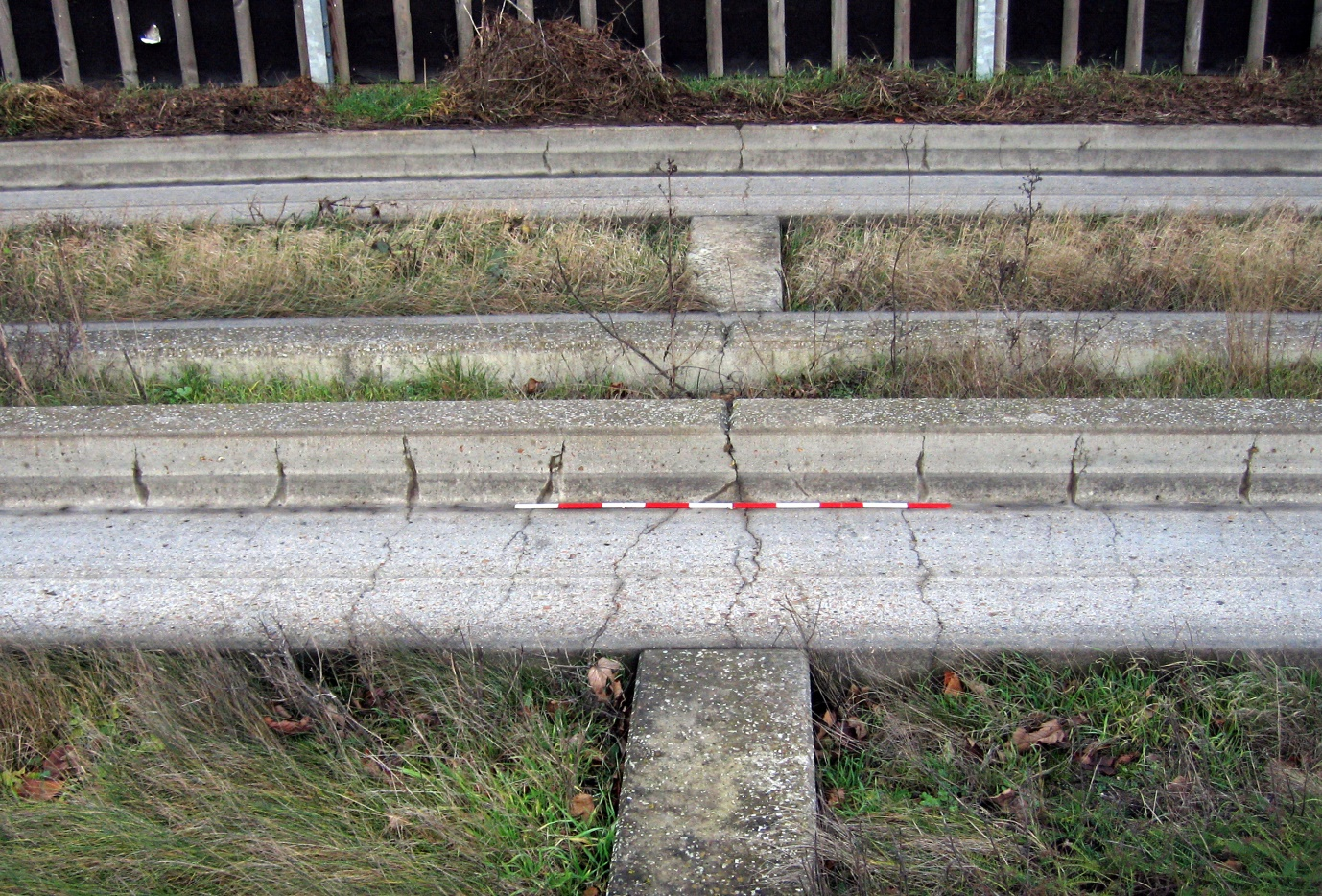 View of the middle of a Guided Busway beam