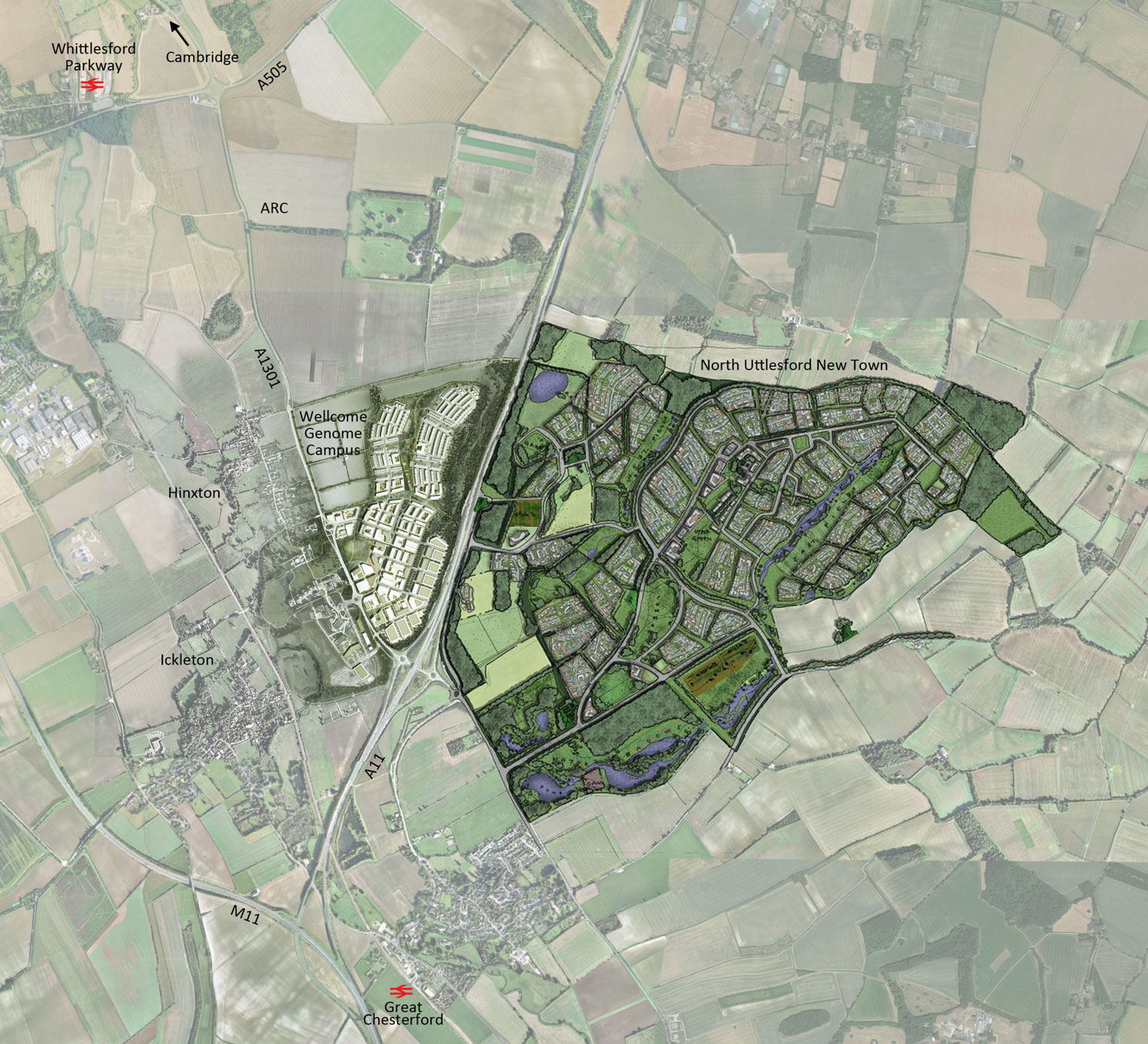 Genome Campus expansion and North Uttlesford New Town